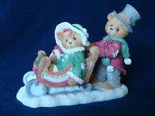 Cherished Teddies - Lindsey And Lyndon - Boy Pushing Girl In Sled - 141178A