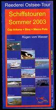 Prospekt, Sassnitz, Reederei Ostsee-Tour, Angebote im Jahr 2003