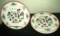 "(4) Jamestown China THE JOY OF CHRISTMAS 10 1/2"" Dinner Plates  *****"
