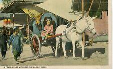 China Peking Beijing - Manchuria Manchu Lady in Horse Cart old postcard
