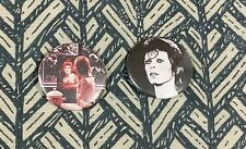 2-for-1 DAVID BOWIE ONE-INCH BUTTONS (Mirror and Black and White) pins Brand New