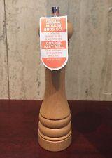 "NEW MARLUX France Beech Wood SALT MILL Round Top Spice Grinder Shaker 8.5"" 21cm"