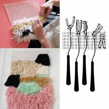 Latch Hook Rug Making Tools Diy Hooking Knitting Blank Canvas Mesh Kit Carpet