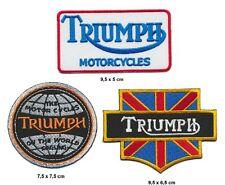 TRIUMPH Aufnäher Aufbügler Patch 3 Stück Motorrad Tiger Thruxton Daytona England