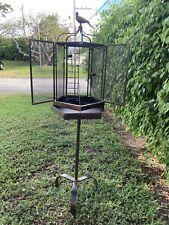 Jan Barboglio iron and bronze antique Bird Cage
