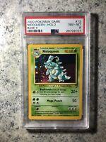 Nidoqueen 12/130 Base Set 2 Holo Rare Pokemon Card PSA 8 NM-MT WotC