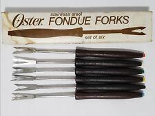 """Vintage Stainless Steel Oster Fondue Forks - Set of 6 - 7"""" Long - Japan"""