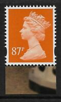GB 2013 U3080 87p Yellow Orange M12L MPIL Doctor Who booklet stamp MNH ex U3020