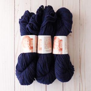 Mirasol Sisa Yarn ~ Lot of 3 ~ #9 Navy ~ Alpaca/Wool ~ Braided ~ Luxe