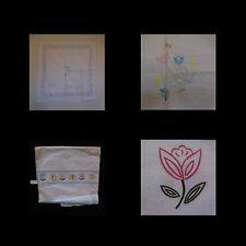 Nappe tissu coton style art nouveau vintage 1950 1970