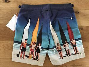 "Orlebar Brown Bulldog Swim Shorts Photographic Surfboards 28""W Rrp £225 New"