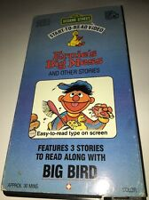 Sesame Street Start-To-Read Video - Ernie's Big Mess and Other Stories VHS RARE