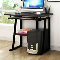 Computer Study Student Desk Laptop Table with Shelf Home Office Furniture Black