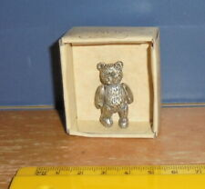Bears From The Past Fully Joint Pewter Pin Teddy Bear Item No 19030 Russ Berrie