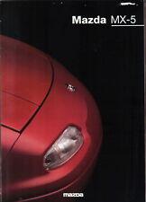 Mazda MX-5 1.6i 1.8i S 1997-1998 Original UK Sales Brochure Pub. No. MCAG 838