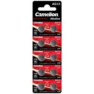 10x Knopfzellen AG12-LR43-V12GA-186-386 Alkaline Uhrenbatterie von Camelion