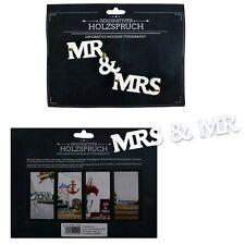 """Holzschrift 3D """"Mr & Mrs"""" zum Stellen Holzbuchstaben Schriftzug Buchstaben"""