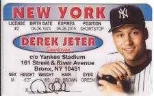 Golden Glove World Series Baseball Derek Jeter collectors card Drivers License