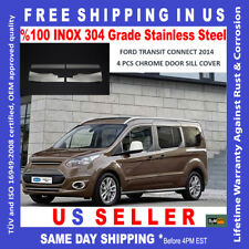 FORD TRANSIT CONNECT CHROME DOOR SILL COVER GUARD PROTECTOR 4 PCS. 2014-2018