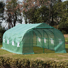 20'x10'x7' Walk-In GREEN HOUSE Plant Gardening Greenhouse Steel Portable Oudoor