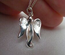 Sterling Silver Angel Pendant, PCD support, carved peanut angel 925