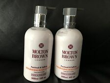 Molton Brown 2 x 300ml Patchouli & Saffron Nourishing Body Lotion BRAND NEW