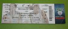 Minnesota Lynx Ticket Stub | June 5 2011 | Lindsay Whalen 10 Pts 7 Ast