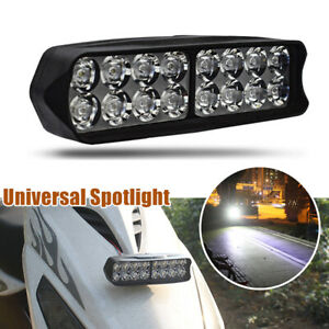 Universal Spotlight 16 LED Motorcycle Bulb Headlight Rearview Mirror Mount Lamp