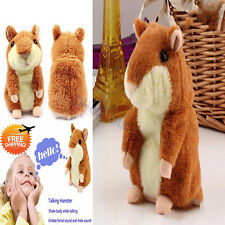 Talking Hamster Plush Toy Electronic Soft Mouse Pet Sound For Girls Boys Gift