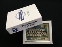 1981 Topps Texas Rangers Team Set (33 cards): Christmas Gift, Custom Box
