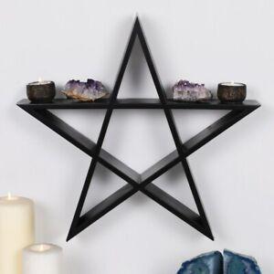 Fantasy-Wandregal in Form eines Pentagram - Gothic Dekoration, Witchcraft, Hexe