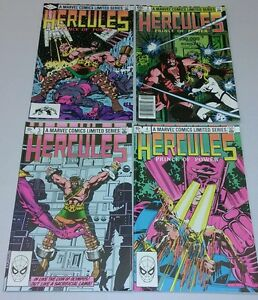 INCREDIBLE HERCULES PRINCE OF POWER #1-4 1982 6.0 fine gallactus COMPLETE movie