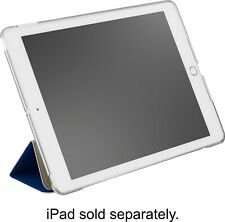 """Dynex Soft-touch Folio Case for Apple 9.7"""" iPad 5th/6th gen. - Clear/Navy Blue"""