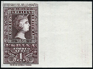ESPAÑA 1950. Centenario. 1 peseta castaño violeta. Nuevo**. Edifil 1079.