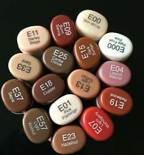 Copic Sketch Markers - Earthtones / Skin tones - Set of 16 - Used -