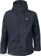 Mens Trespass Tp75 Corvo Waterproof Windproof Hooded Jacket Black Large