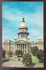 Springfield ILLINOIS IL State Capital 1950s Car Postcard