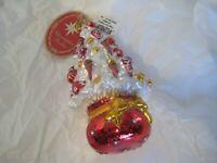"Christopher Radko Glass ""Tree Trim Treasure"" Christmas Ornament New"