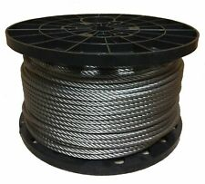 "1/8"" Stainless Steel Aircraft Cable Wire Rope 7x19 Type 316 (400 Feet)"