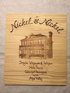 1 Rare Wine Wood Panel Nickel & Nickel Napa Vintage CRATE BOX SIDE 3/21 505