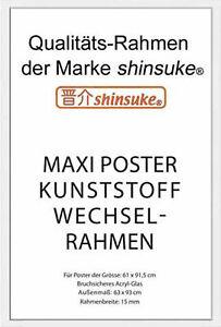Rahmen Shinsuke® für Poster, Model 2019 Kunststoff / Acrylglas, 61x91,5cm, weiss