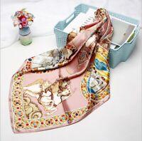 Klassik Seidentuch Royal Halstuch 90x90cm Seide Loop Schal für Damen Frauen N57