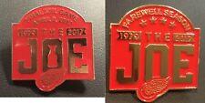 "DETROIT RED WINGS PIN SET ""THE JOE"" FAREWELL SEASON & APRIL 9TH FINAL NHL GAME"