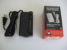 Full range BLACK foot Slide lamp dimmer 500 watt Incadecent and Halogen NIB