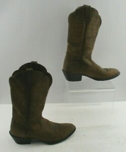 Ladies Ariat Brown Leather Almond Toe Western Boots Size: 8.5 B