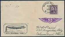 CANADA #R-100 ON ZEPPELIN FLIGHT COVER 8/4/1930 BR1903