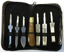 Farrier Hoof Knife Kit Set Zip Up Wallet - Premium Quality Stainless Steel Blade