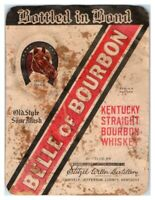 Belle of Bourbon Kentucky Straight Bourbon Whiskey Bottle Label