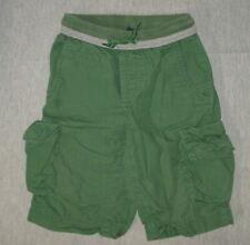 Gap Kids Green Cargo Shorts Large Ribbed Waist Cotton Boy's D03