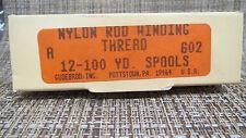 Gudebrod Nylon Rod Winding Thread 602 Almond Size A 12 100 yd Spools Nib